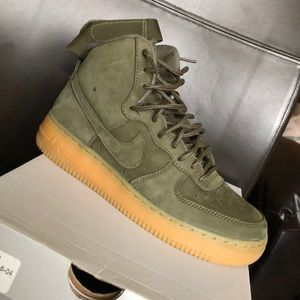 Nike Shoes   Olive Green Air Force High